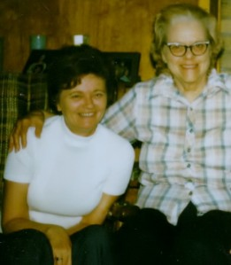 Mom and Great Aunt Lucille. Happy Mom's Day.