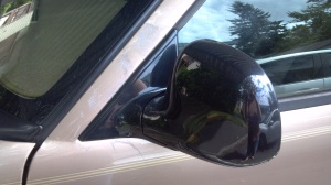 The offending mirror all new and shiny.