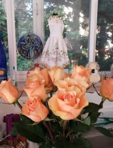 My favorite color roses from my favorite daughter.