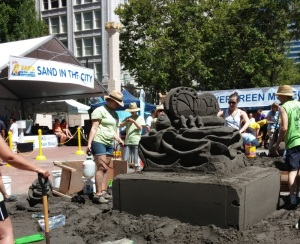 Wish I could have stayed to the finish. There were so many nice sculptures