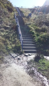 There are 100 steps. We did them up and down...twice. Life is like that. The good stuff is always at the other end.