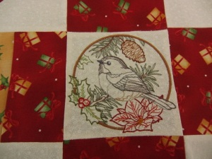 A closer look at my take on a quilt square