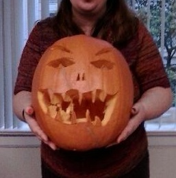 My daughter had a pumpkin carving contest at work. Her's is spooky...ish
