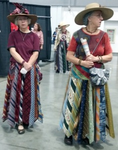 I see these ladies at every quilt show in their skirts made from  ties.  I have lots of ties to create with, just not enough hours...yet.