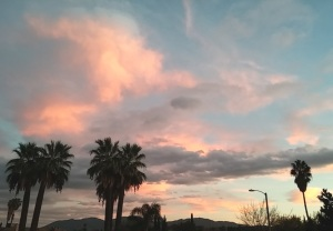 My son took this California sky before the rain.