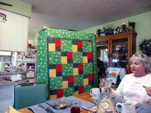 Nancy's simple quilt we can pattern some charity quilts after.