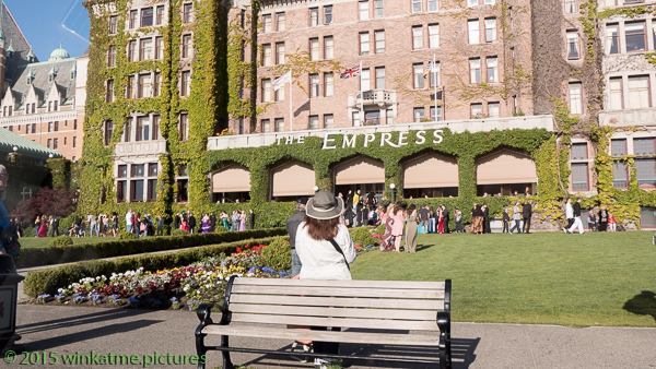The Empress Hotel. She wasn't home. So daughter bought a t-shirt in the gift shop
