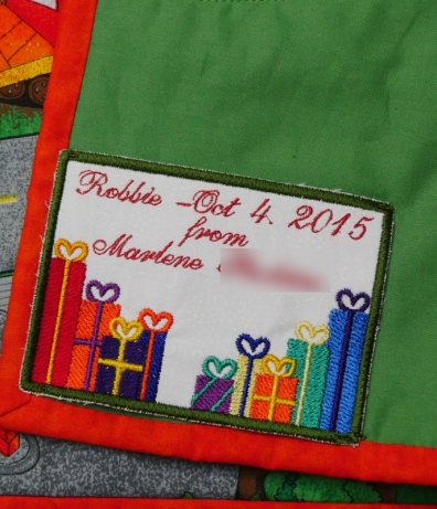 Embroidered label