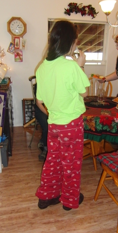 Does anyone understand why a teenager must wear pajamas all day Christmas day when visiting family?