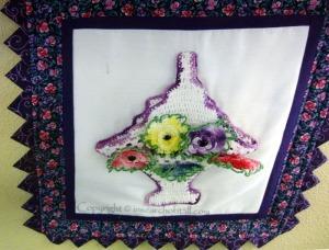 I fell in love with the framed crochet