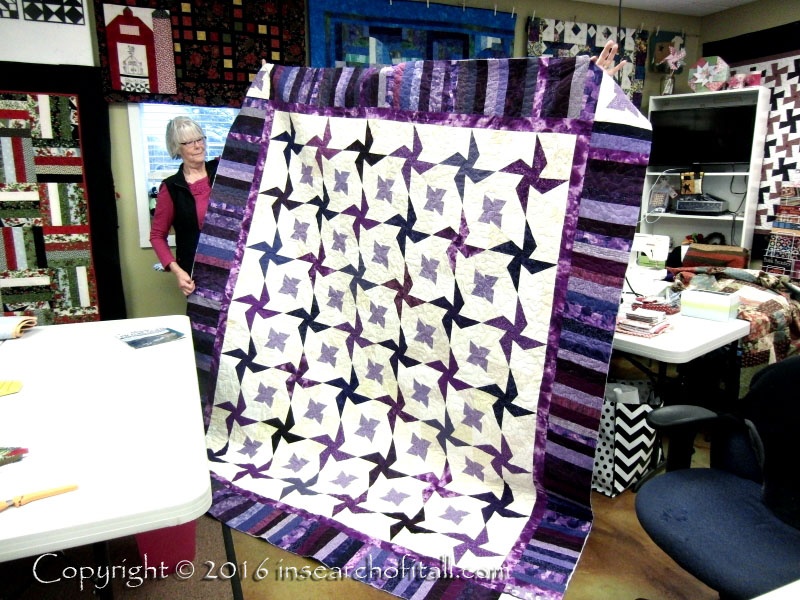 Can you believe this is a donation quilt for a fund-raiser?