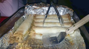 Baked taquitos were scrumptious and healthy. I brought some home for TS and his sister to try. Yummm!