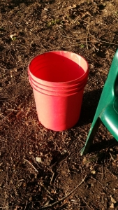 My 5 gallon red bucket gets stuffed then emptied