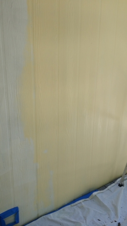 First the primer coat then the yellow