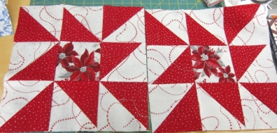 squares for the Christmas raffle quilt.