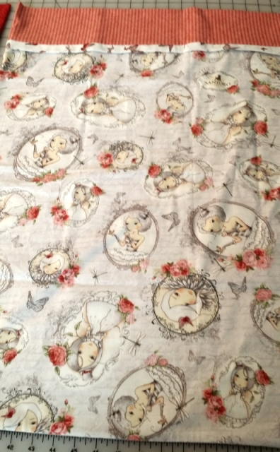 This goes with the little girls quilt