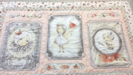 Loved the panel and added borders. A few puckers but a child might not notice.