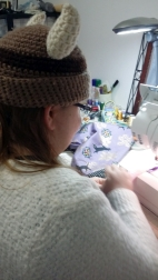 Daughter sewing on moms machine is so much better than at home alone with hers