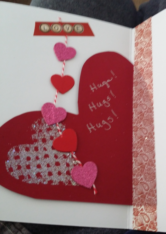 There is nothing like a hand made card. She is very talented.