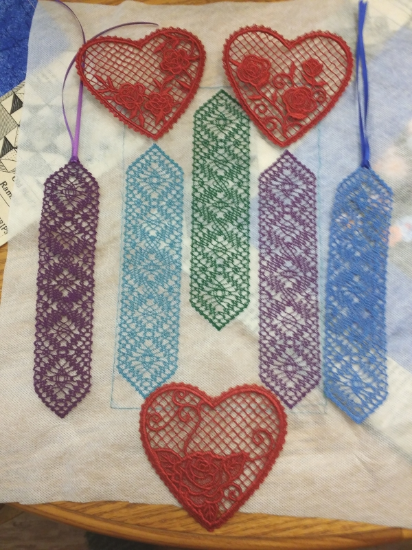 These hearts are new after Valentines day for next year. I needed more bookmarks for friends