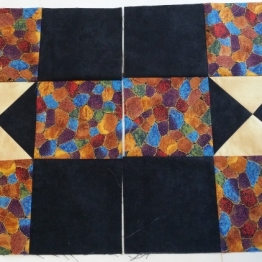 My 2 squares for the donation quilt.