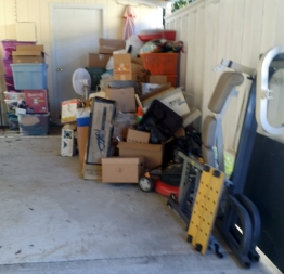 junk in the driveway