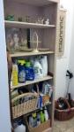 laundry shelves redone