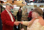 shaking hands with Bob at89