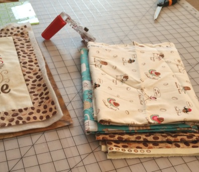 auditioning fabric for wall hanging