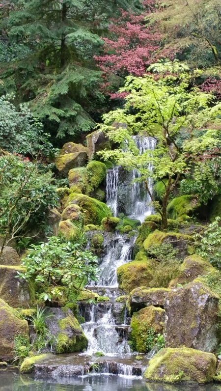 Flowing water at the Japanese Gardens