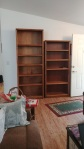 empty bookcases