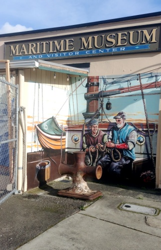 Main street wall art in Poulsbo, Washington
