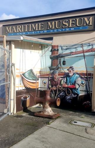 Main street wall art in Poulsbo, Washington